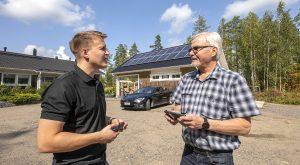 Kohteen sähkötyöt tehneen ja suunnitelleen Parikkalan Sähkötaito oy:n Jussi Tuunanen laati Jukka Heinoselle tarkat suunnitelmat tarvittavista laitteista ja niiden käyttömahdollisuuksista ennen asennustöiden aloittamista.