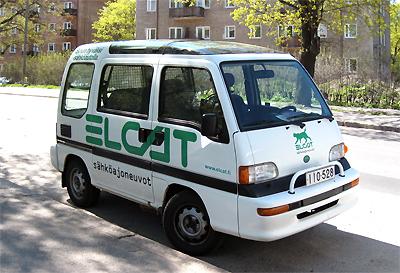 Sähköauto. Kuva Mikko Arvinen.